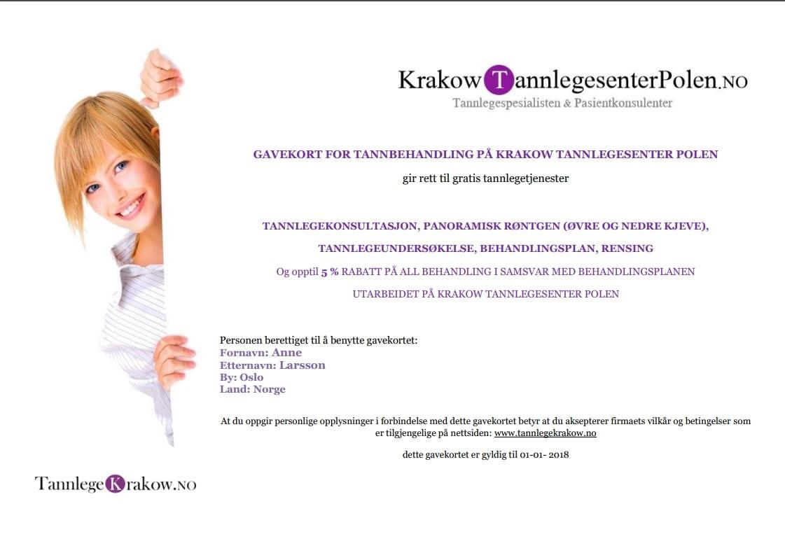 gratis tannbehandling i Polen